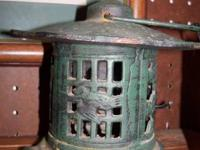 Cast iron Eastern Pagoda light $45.  This product and