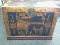 This is a great find, Authentic Antique Asian Trunk /