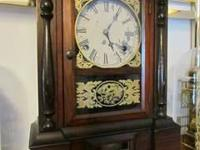 "Antique Atkins key wind mantle clock. It's 16 "" tall"
