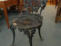 Antique Atlanta Stove Works Cast Iron Chair / Stool.