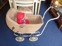 Beautiful antique doll-baby stroller / buggy in great