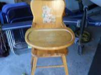 Nice Antique Baby High Chair Asking $15 call  Location: