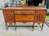 GORGEOUS ANTIQUE BASSETT FULL SIZE SIDE BOARD, OF WHICH