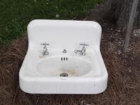 Nice White Cast Iron Bathroom Sink with gently used