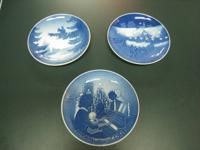 Three beautiful Bing and Grondahl Christmas plates. The