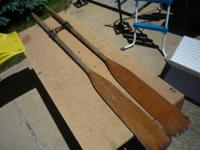 Antique boat oars, use or display. 61/2 ft long with
