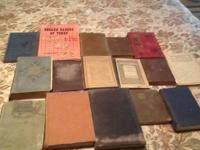 Lot of antique hardback books, dats from late 1800 to