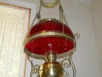 This old brass lamp has some small dinks that do not