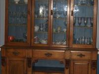 Antique Secretary/China Cabinet, beautiful, solid wood
