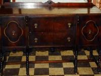 "This circa 1910 buffet measures 59"" wide x 21 1/2"" deep"