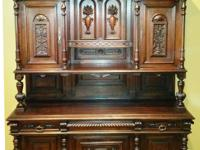 Buffet/ Hutch French Renaissance Style 1880s 1880s