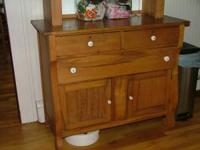 ....ALL WOOD ANTIQUE BUFFET/DRESSER CABINET.....3