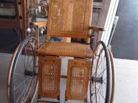 Antique Walking stick and Lumber Wheel Chair  This