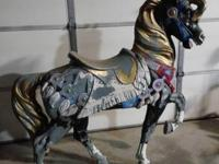 For sale Antique Carousel Horse. This was in a gallery
