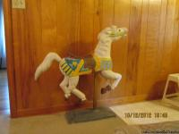 Lovely antique carousel horse on its' stand about 39
