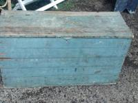 Awesome Antique Carpenters Chest / Trunk that is the