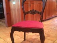 Beautiful antique carved mahogany chair.