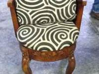 Antique carved wood chair. Very small and cute! Large