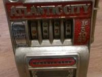 Cast iron front Atlantic city bonanza bank slot machine