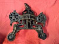 Cast iron Hay Trolley Barn Pulley Please do not