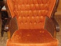 Antique Chair in great condition upholstery fabric is