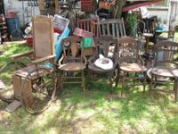 ANTIQUE CHAIRS BEGINNING AT 30.00 & UP We have bunches
