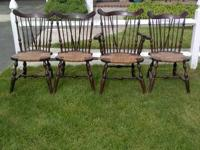 Four antique chairs - Windsor chairs Nichols and Stone