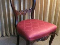 Early Victorian ballon back mahogany chairs with