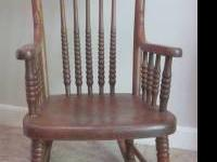 Nice Antique solid wood oak Child's Rocking chair.