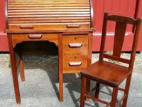 Antique Child's Roll Top Desk # 830 from the Paris Mfg.