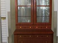 Beautiful antique cherry wood china cabinet in