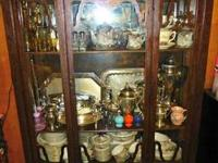 Antique China Cabinet including ALL contents pictured