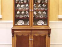 Antique country style china cabinet imported from