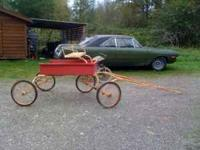 Neat OLD-MED pony cart just needs paint has removible