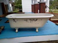 """Antique Clawfoot Bathtub 60""""/30""""/18"""" with 6.5"""" clawfeet"""