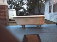 "Antique Clawfoot Tub 60""/30""/18"" Clawfeet are 6.5"""