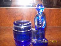 Beautiful Cobalt Blue Glass Charlie Chaplin Toothpick