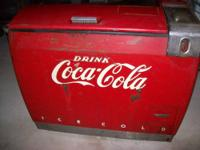 1950'original coke cooler,very good condition for it