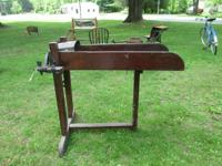 We have a terrific old corn chopper or cutter. It is a