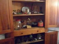 Beautiful solid wood corner cabinet in great shape and