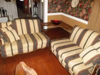 Mid century corner table & 2 sitting couches. All are