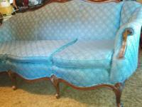 antique couch in fairly nice condition.