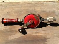 I have an old antique Craftsman hand drill. There are
