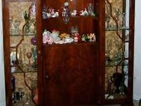 Antique Dry Bar/Curio Cabinet Good condition, must be