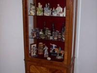 ANTIQUE CURIO CABINET -- $450.00  Glass front and glass