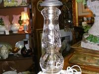 Beautiful cut crystal antique table lamp. Excellent