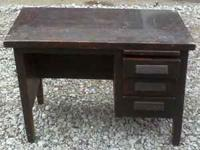 Antique Desk with 3 drawers, in fair condition. $60.00