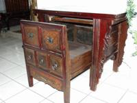 Antique workdesk crafted from an aged antique. We