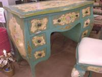Fantastic Italian design desk with matching chair. Hand