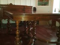 Have a very well preserved beautifully carved dinette